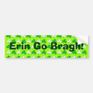 St Patrick Ireland Shamrock Pattern Design Car Bumper Sticker