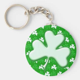 St Patrick Ireland Shamrock Pattern Design Keychain