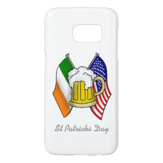 St Patrick Irish and American Flag with Beer SAMSU Samsung Galaxy S7 Case