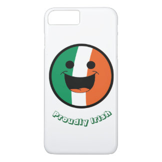 St Patrick Irish Flag, DIY Smiley Face Hooligan iPhone 8 Plus/7 Plus Case