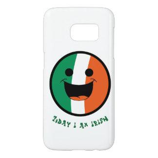St Patrick Irish Flag, DIYHappy  Smiley Face Samsung Galaxy S7 Case