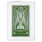 St. Patrick Irish Postage Stamp Card