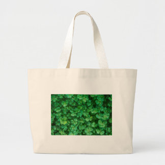 St Patrick lucky clovers Large Tote Bag