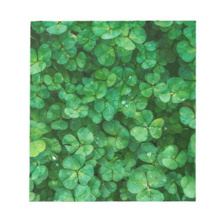 St Patrick lucky clovers Notepad