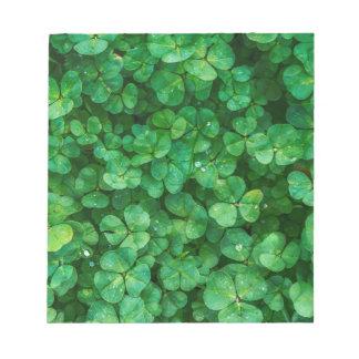 St Patrick lucky clovers Notepads