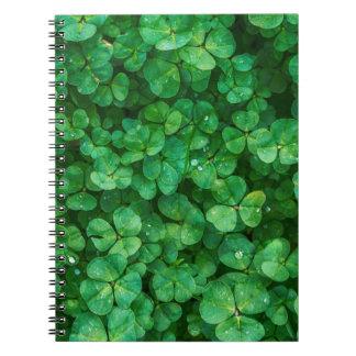 St Patrick lucky clovers Spiral Notebook