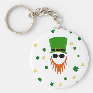 St. Patrick pattern Basic Round Button Keychain