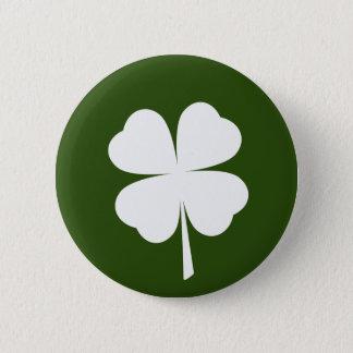 St. Patrick's Day 4 Leaf Clover Shamrock Button