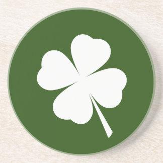 St. Patrick's Day 4 Leaf Clover Shamrock Coaster