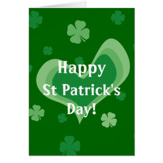 St Patrick s Day Cards with falling shamrocks