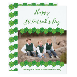 St. Patrick's Day   Flat Greeting Card