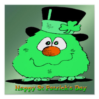 St Patrick s Day Gnome Poster