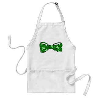St. Patrick's Day Green Bow Tie Apron