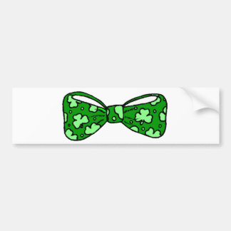 St. Patrick's Day Green Bow Tie Bumper Sticker