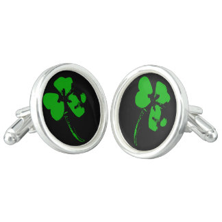 St. Patrick's Day Green Clover - Cufflinks