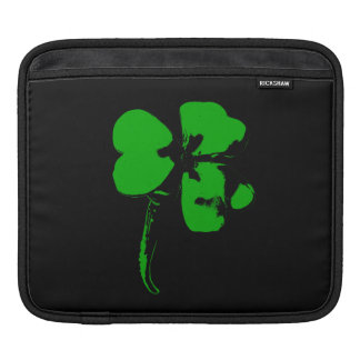 St. Patrick's Day Green Clover - Tablet Sleeve iPad Sleeves