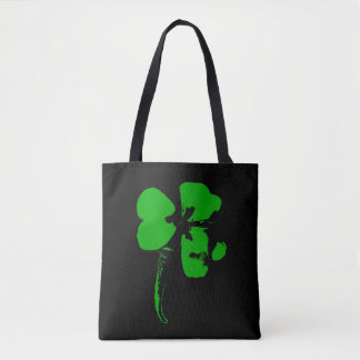 St. Patrick's Day Green Clover - Tote Bag