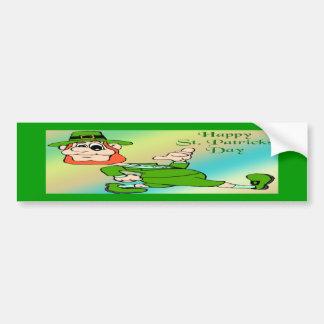 St Patrick s Day Leprechaun Bumper Sticker