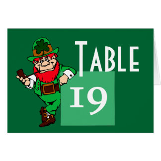 St Patrick s Day Leprechaun Table Number Cards