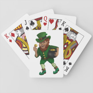 St. Patrick s Day Lucky Leprechaun Playing Cards