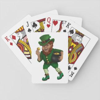 St. Patrick s Day Lucky Leprechaun Poker Deck