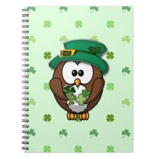St Patrick s Day owl Notebook