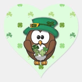 St Patrick s Day owl Stickers