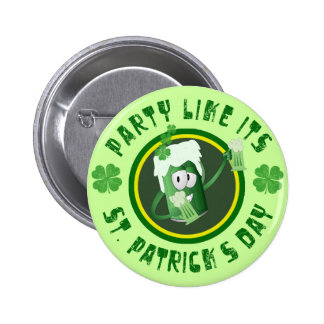 St Patrick s Day Party Button