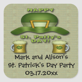 St Patrick s Day Party Favor stickers