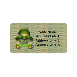 St Patrick s Day Party Invitation Address Labels