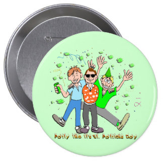St Patrick s Day Party Pinback Buttons
