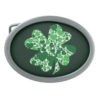 St. Patrick's Day Shamrock Clover Belt Buckle