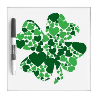 St. Patrick's Day Shamrock Clover Dry Erase Board