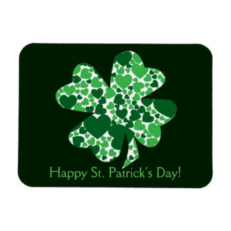 St. Patrick's Day Shamrock Clover Flexible Magnet