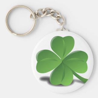 St. Patrick's Day Shamrock Clover Keychain