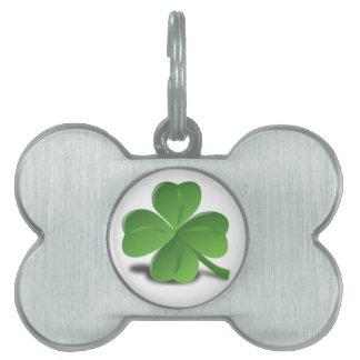 St. Patrick's Day  Shamrock Clover Pet Tag