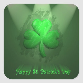 St Patrick s Day Square Stickers