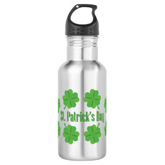 St. Patrick's Day with clover 532 Ml Water Bottle