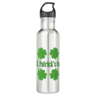 St. Patrick's Day with clover 710 Ml Water Bottle