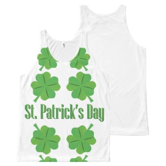 St. Patrick's Day with clover All-Over-Print Tank Top