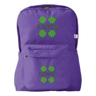St. Patrick's Day with clover Backpack