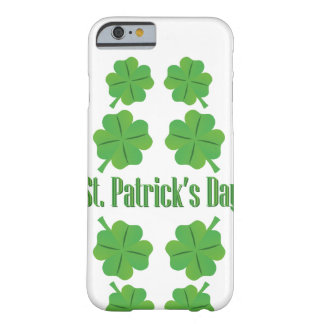 St. Patrick's Day with clover Barely There iPhone 6 Case