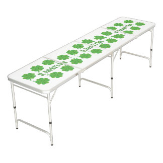 St. Patrick's Day with clover Beer Pong Table
