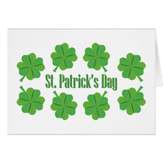 St. Patrick's Day with clover Card