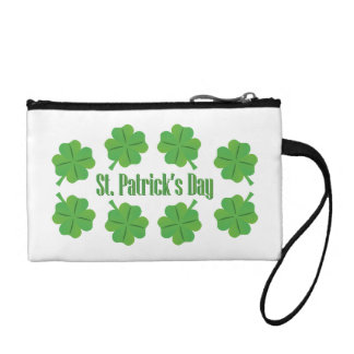St. Patrick's Day with clover Change Purses