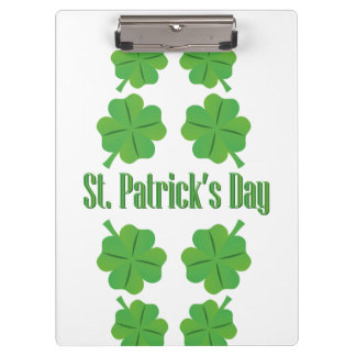 St. Patrick's Day with clover Clipboard
