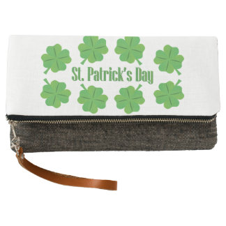 St. Patrick's Day with clover Clutch