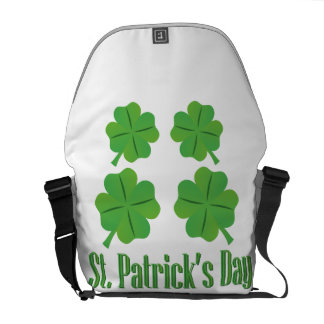 St. Patrick's Day with clover Commuter Bag