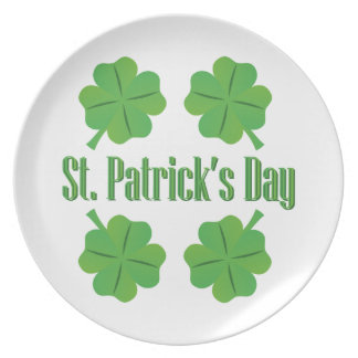 St. Patrick's Day with clover Dinner Plates