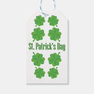 St. Patrick's Day with clover Gift Tags
